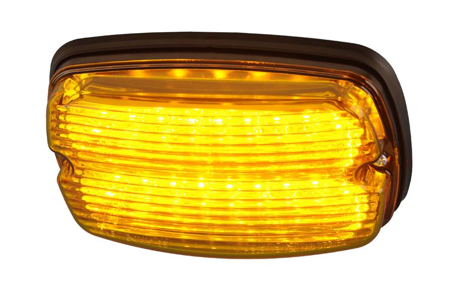 Whelen M4 amber met kunststof flens