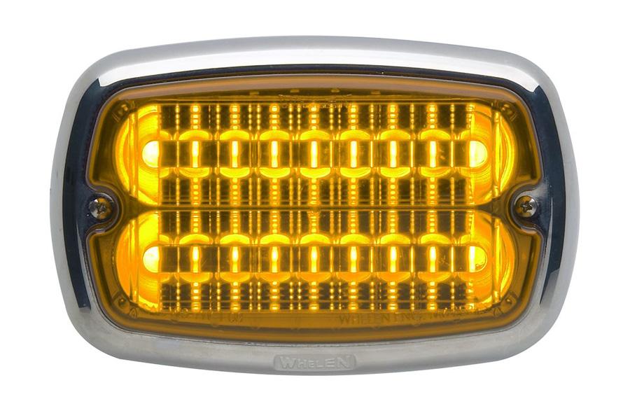 Whelen M6 amber chroom flens