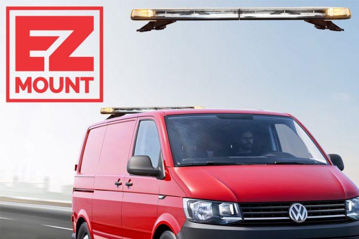Whelen Justice EZ-Mount Volkswagen Transporter T6 achterzijde