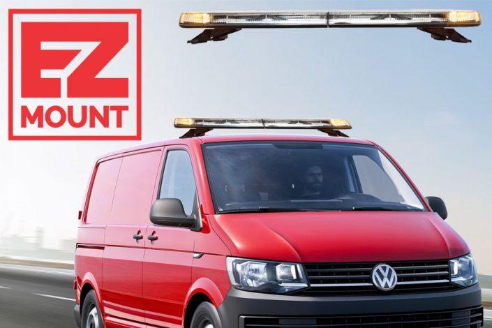 Whelen Justice EZ-Mount Volkswagen Transporter T6 voorzijde